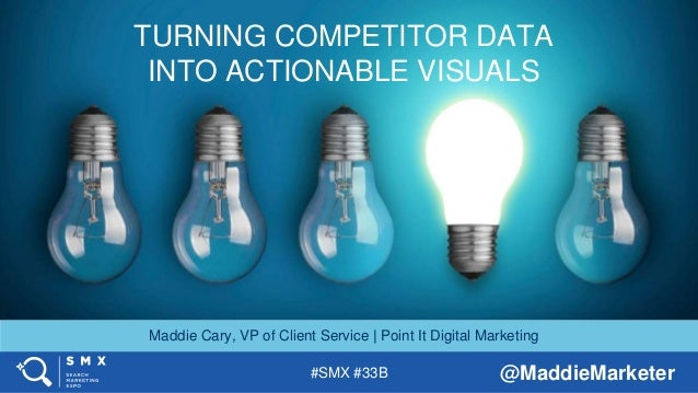 #SMX #33B @MaddieMarketer TITLE SLIDE ALTERNATIVE LAYOUT w/ *EXAMPLE* IMAGE (SWAP IN YOUR OWN AS NEEDED) TURNING COMPETITO...