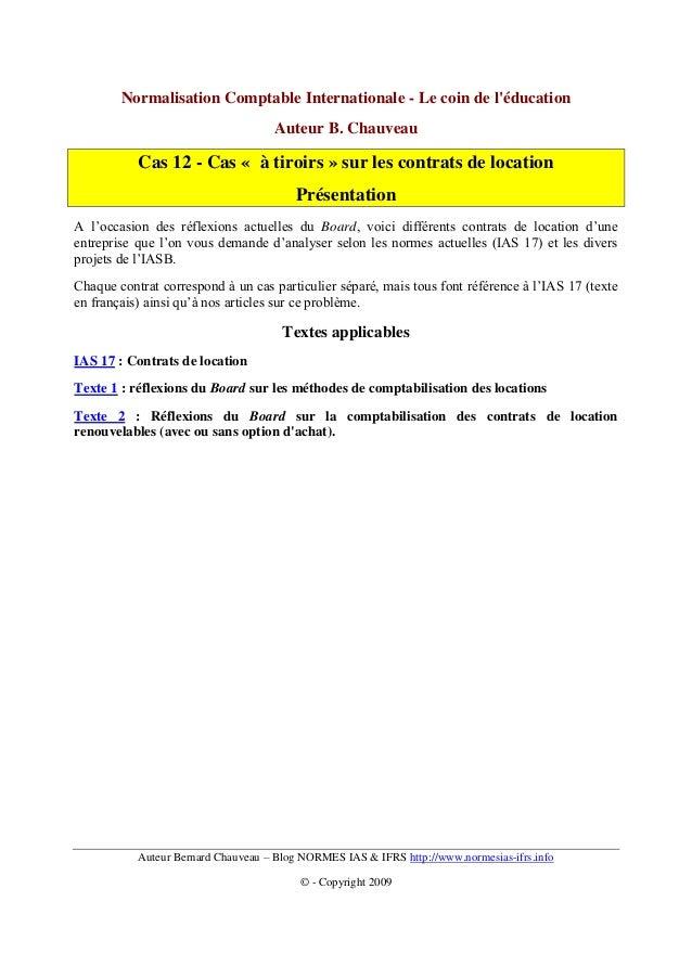 Normalisation Comptable Internationale - Le coin de léducation                                    Auteur B. Chauveau      ...