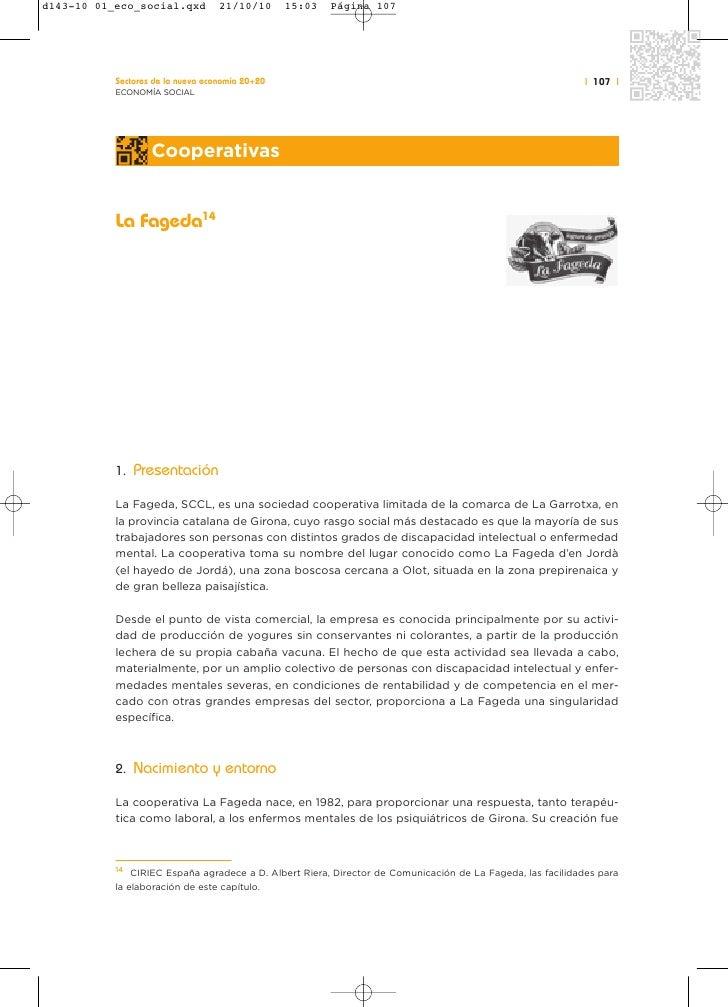 Sectores de la nueva economía 20+20                                                              | 107 |ECONOMÍA SOCIAL   ...