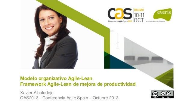 1 Modelo organizativo Agile-Lean Framework Agile-Lean de mejora de productividad Xavier Albaladejo CAS2013 - Conferencia A...