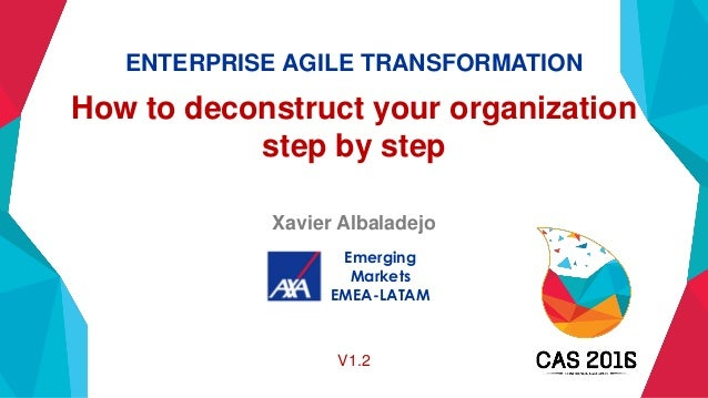 ENTERPRISE AGILE TRANSFORMATION How to deconstruct your organization step by step Xavier Albaladejo Emerging Markets EMEA-...