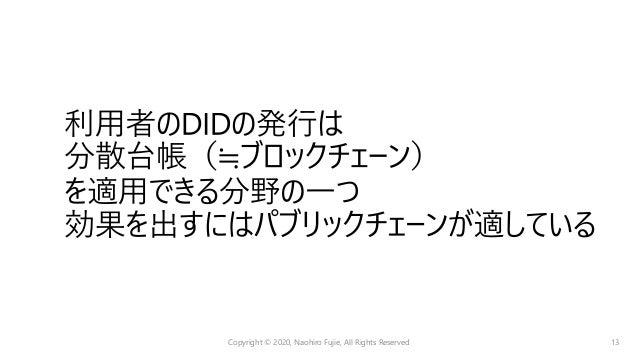 • 発⾏されたアイデンティティ • 発⾏者 Copyright © 2020, Naohiro Fujie, All Rights Reserved 14