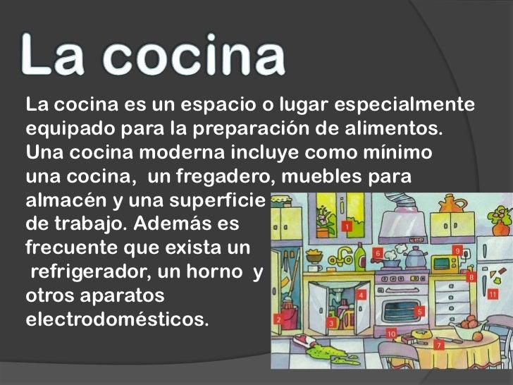 Partes de la casa Areas de la cocina y sus funciones