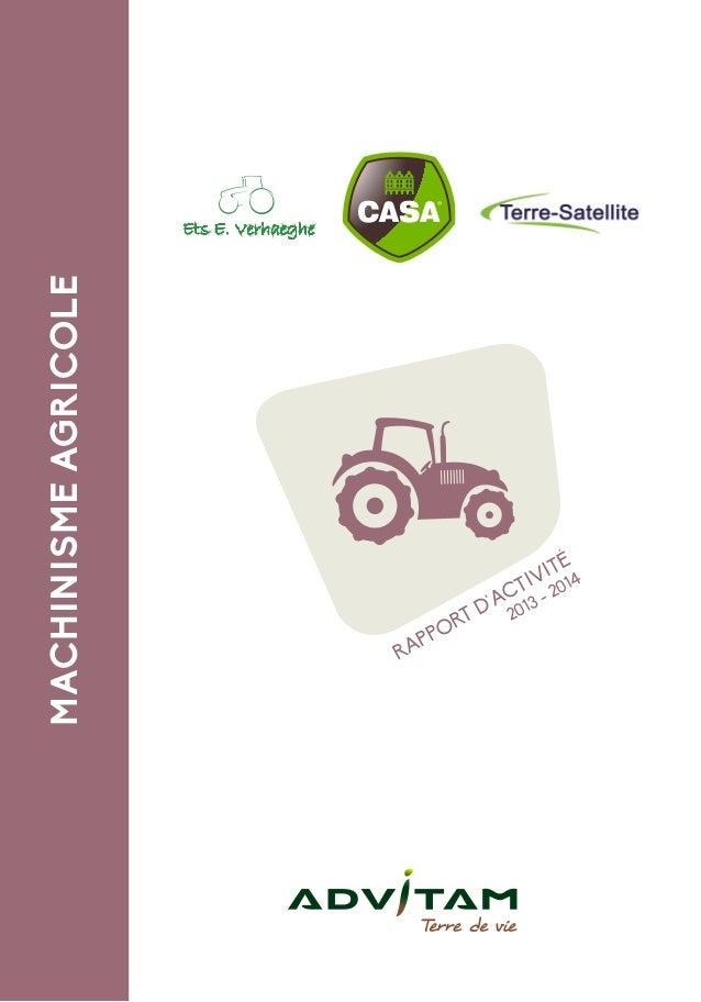 MACHINISMEAGRICOLE RAPPORT D'ACTIVITÉ 2013 - 2014