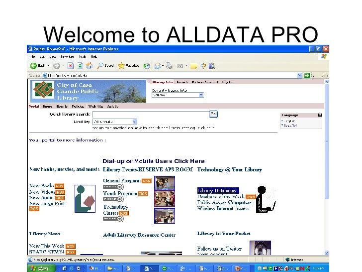Welcome to ALLDATA PRO