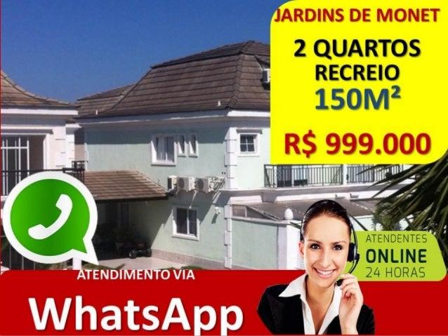 CASA 2 SUITES RECREIO • COND. JARDINS DE MONET • CASA 3 QUARTOS TRANSFORMADA EM 2 QUARTOS. • 160M² • RGI – 100% LEGALIZADO...