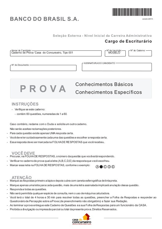 BANCO DO BRASIL S.A.                                                                                          Janeiro/2013...