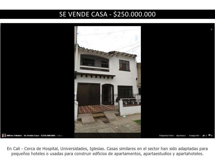 SE VENDE CASA - $250.000.000En Cali - Cerca de Hospital, Universidades, Iglesias. Casas similares en el sector han sido ad...