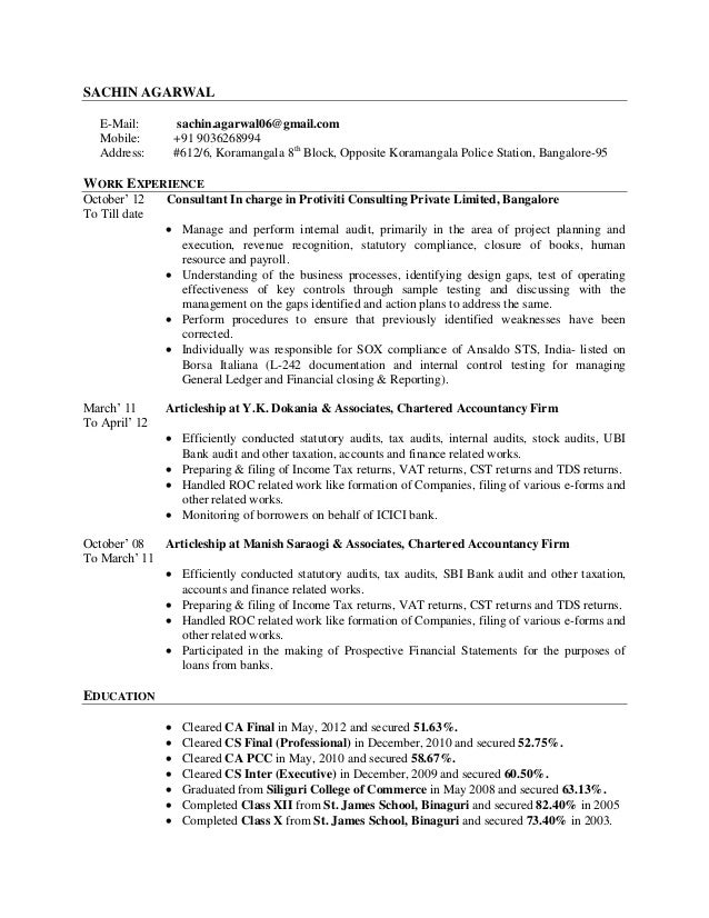 General Accounting Resume