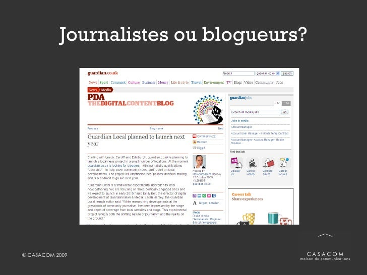 Journalistes ou blogueurs?