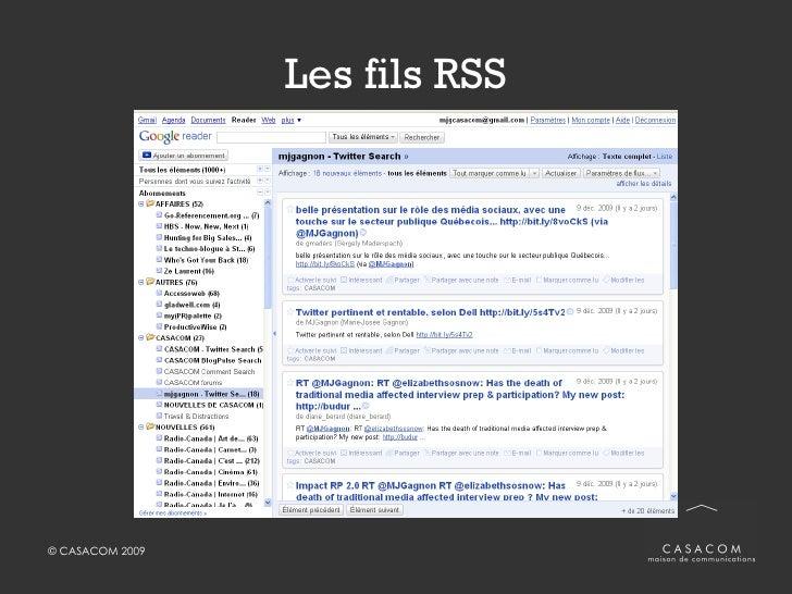 Les fils RSS