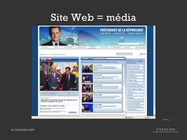 Site Web = média