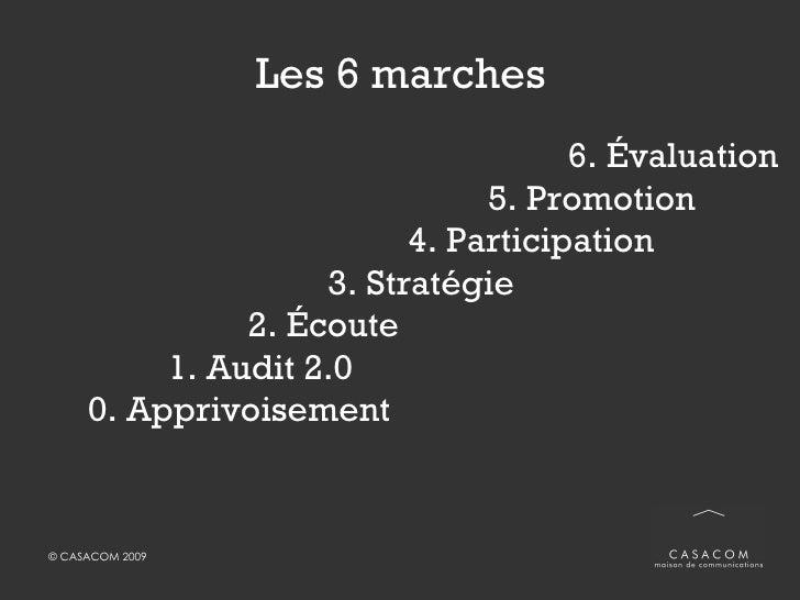 Les 6 marches <ul><li>6. Évaluation </li></ul><ul><li>5. Promotion </li></ul><ul><li>4. Participation </li></ul><ul><li>3....