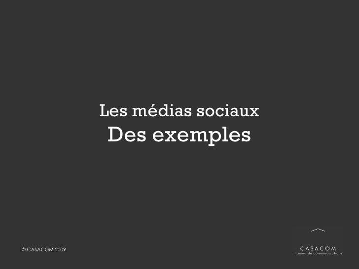 Les médias sociaux Des exemples
