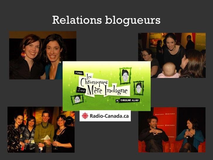 Relations blogueurs
