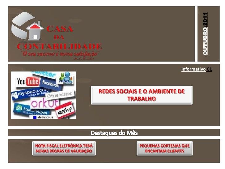 OUTUBRO/2011                                                             Informativo 01                              REDES...