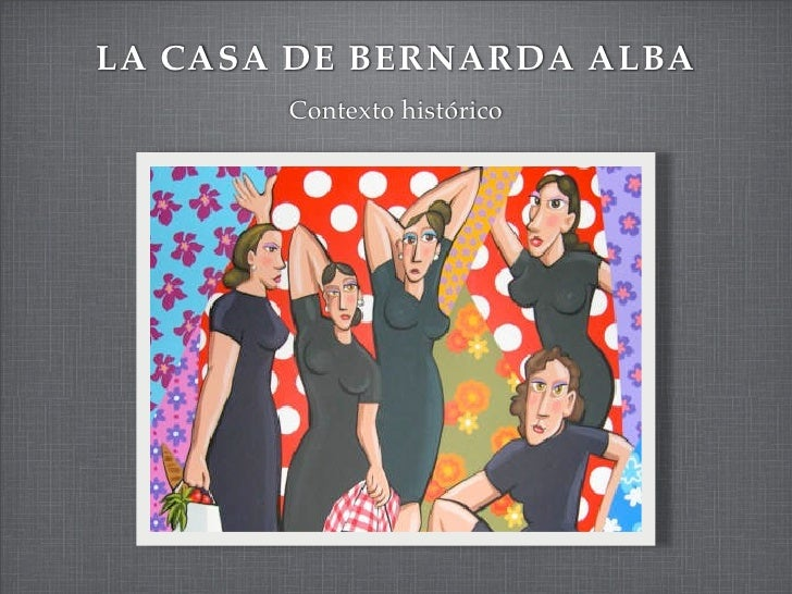 LA CASA DE BERNARDA ALBA       Contexto histórico