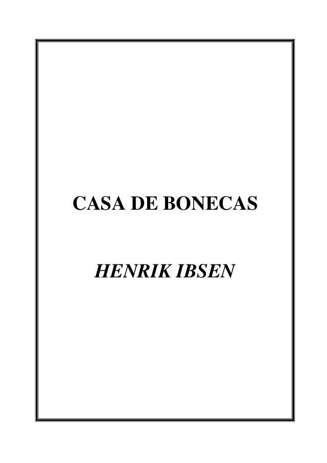 CASA DE BONECAS HENRIK IBSEN