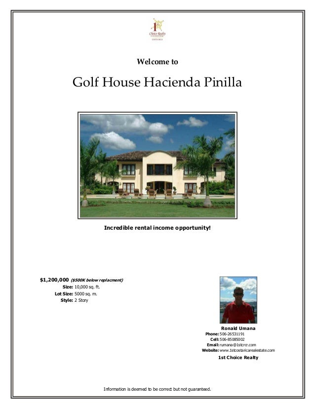 Welcome to               Golf House Hacienda Pinilla                                 Incredible rental income opportunity!...