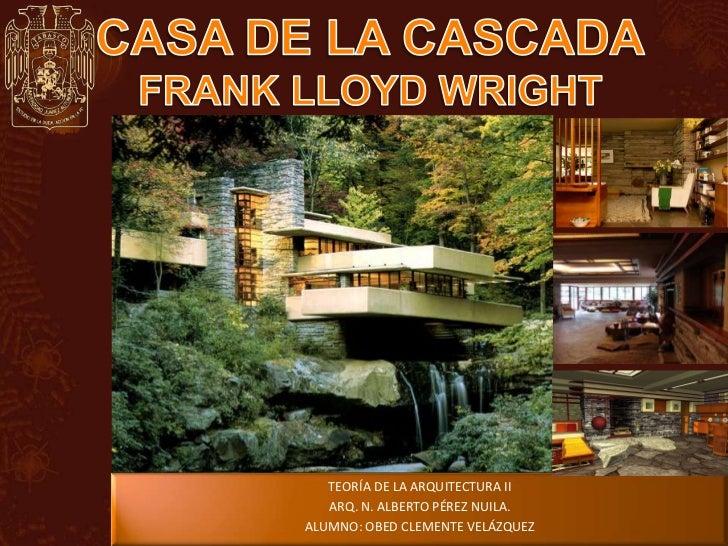 Casa de la cascada de frank lloyd wright - La casa de las perchas ...