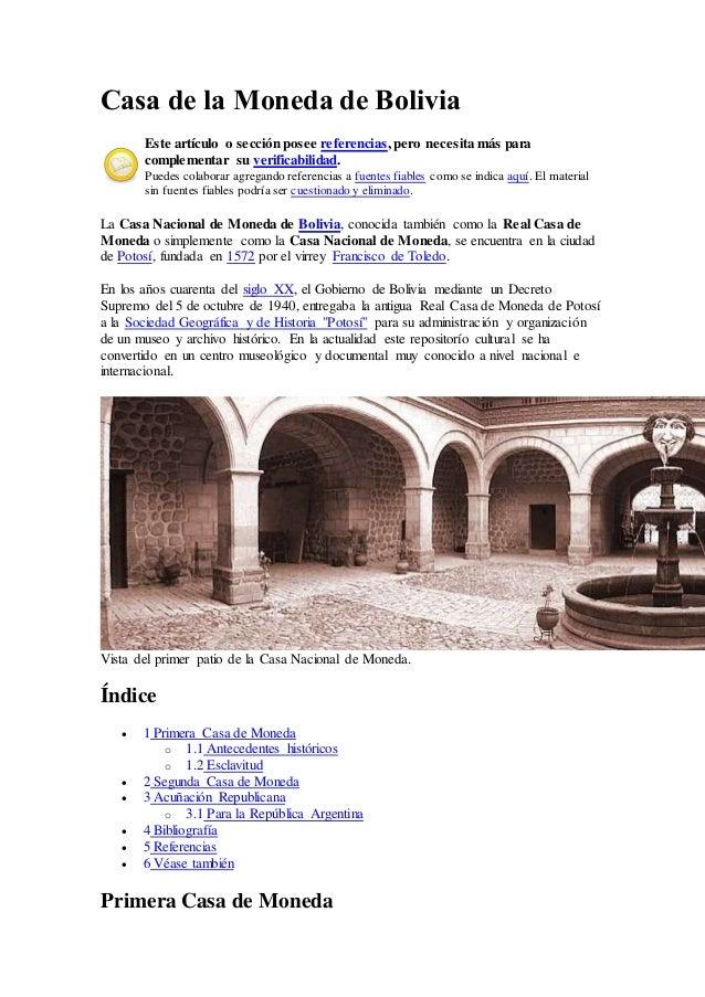 Casa de la moneda de bolivia - Casa de la moneda empleo ...