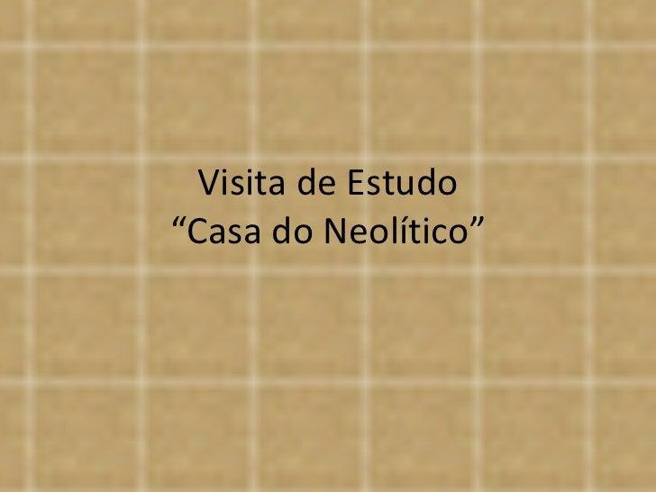 """Visita de Estudo """"Casa do Neolítico"""""""