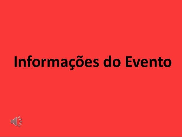 Informações do Evento