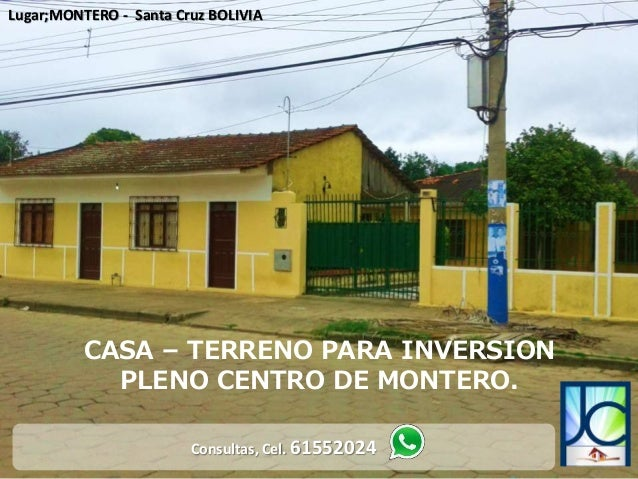 Casa a la venta en montero bolivia for Casa la mansion santa cruz bolivia