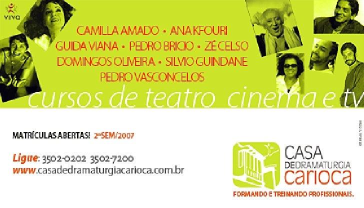 Cursos de Teatro Cinema e TV | Profissionalizante | Rio de Janeiro, RJ
