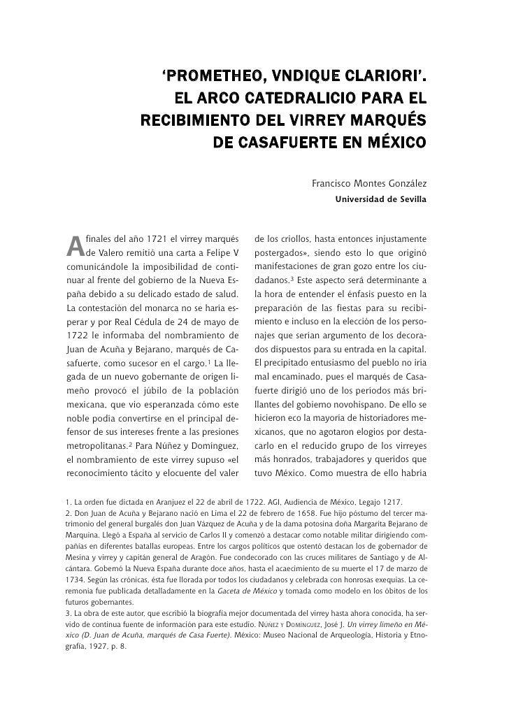 'PROMETHEO, VNDIQUE CLARIORI'.                           EL ARCO CATEDRALICIO PARA EL                       RECIBIMIENTO D...