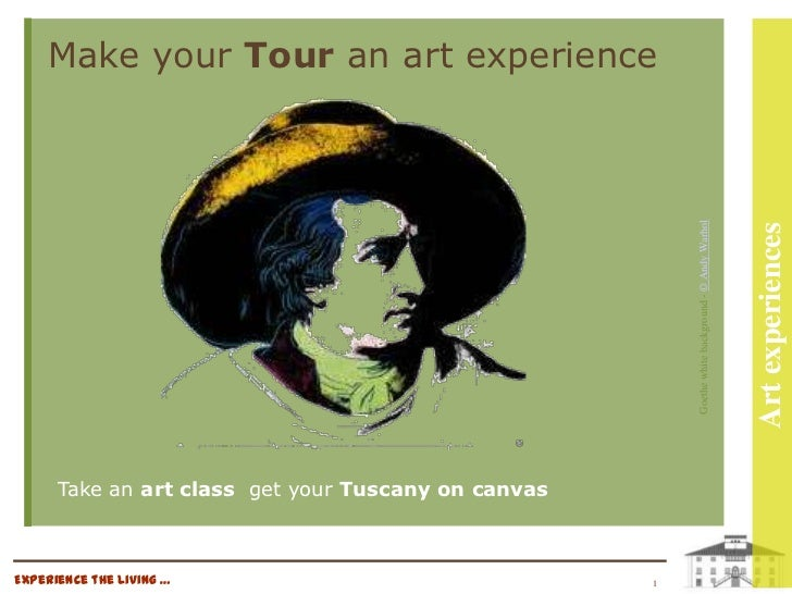 Make your Tour an art experience                                                         Goethe white background - © Andy ...
