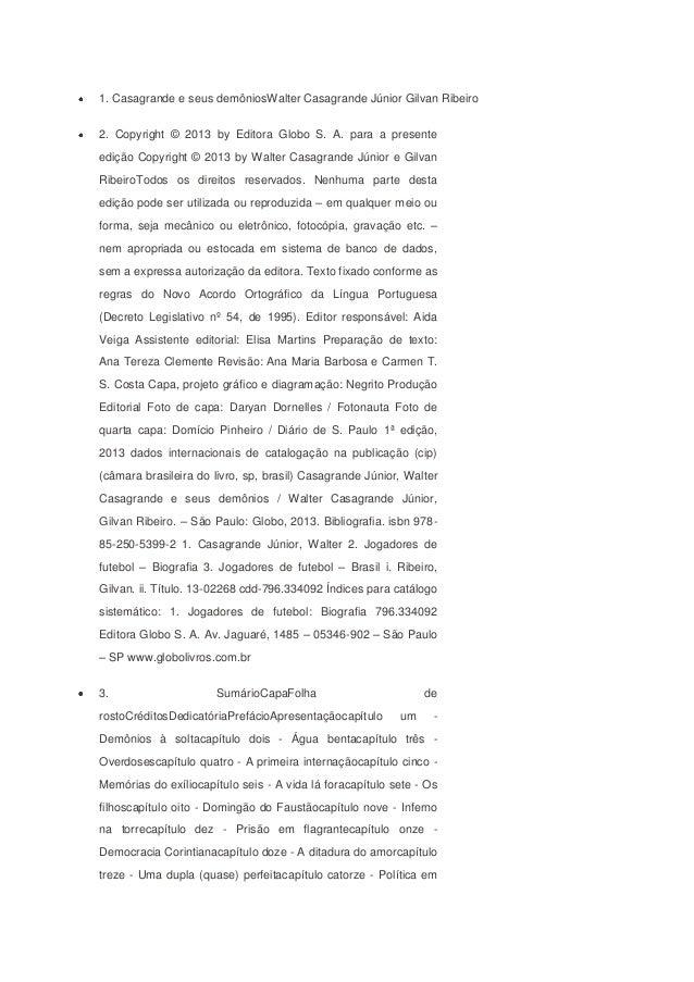 campocapítulo quinze - O Leão é mansocapítulo dezesseis -Aventura na Europacapítulo dezessete - Às turras comTelêcapítulo ...