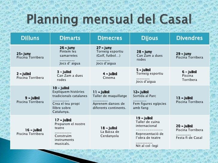 Activitats d estiu 2012 for Piscina can zam