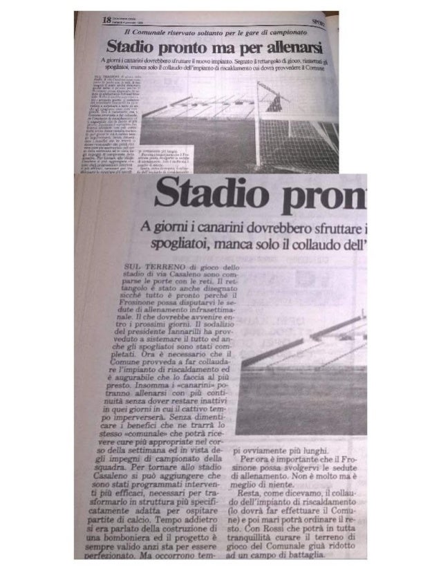 Stadio Casaleno 5/1/1989 - campo allenamento Frosinone Calcio