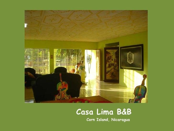 Casa Lima B&B <br />                           Corn Island, Nicaragua<br />