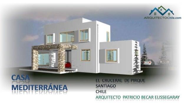 Casa mediterranea proyecto de arquitectura for Casa moderna mediterranea