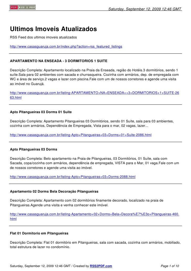 Saturday, September 12, 2009 12:46 GMT     Ultimos Imoveis Atualizados RSS Feed dos ultimos imoveis atualizados  http://ww...