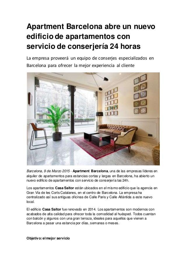 Apartment Barcelona abre un nuevo edificio de apartamentos con servic…