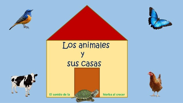 Los animales y sus casas El sonido de la hierba al crecer
