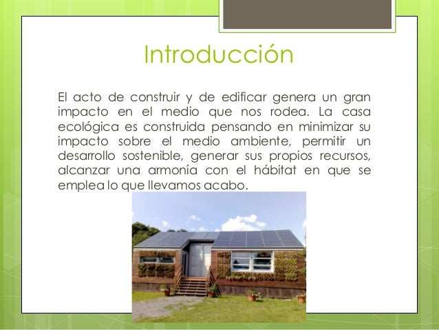 casa ecologicas