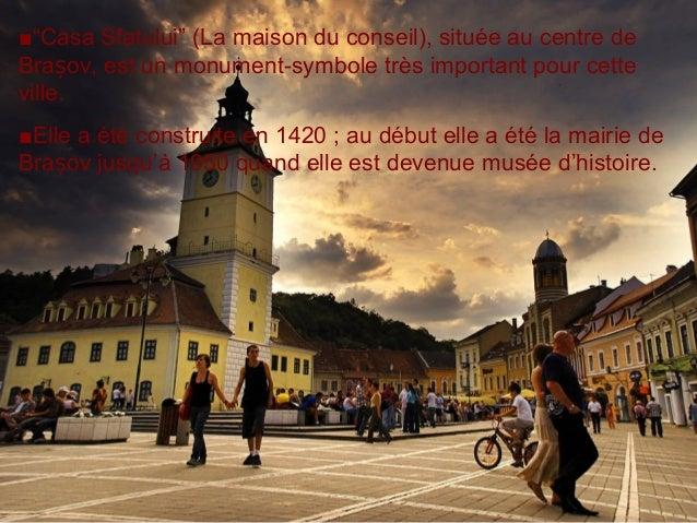 """■""""Casa Sfatului"""" (La maison du conseil), située au centre de Bra ov, est un monument-symbole très important pour cetteș vi..."""