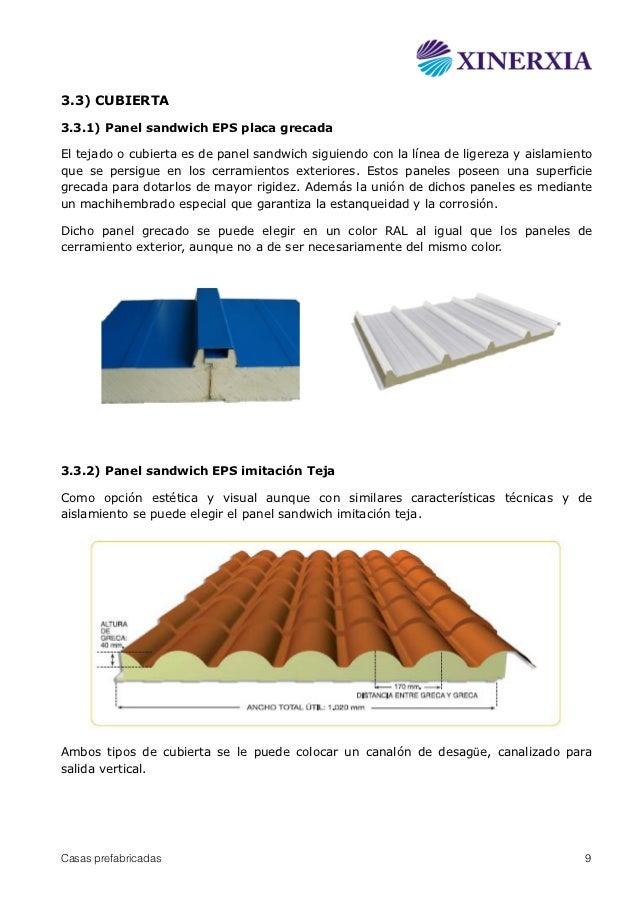 Casas prefabricadas panel sandwich xinerxia - Tipos de tejados para casas ...