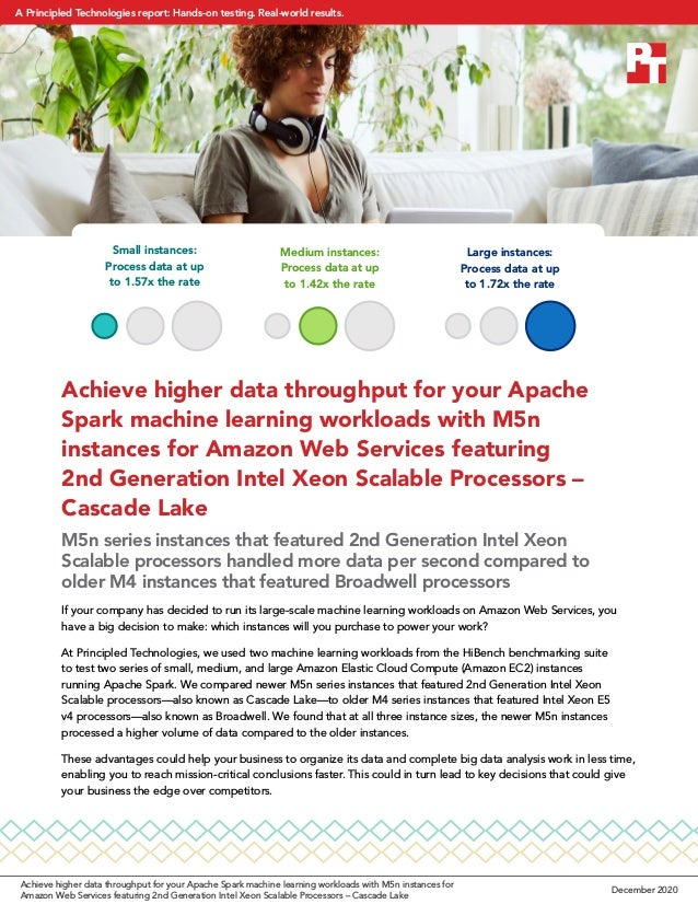 Achieve higher data throughput for your Apache Spark machine learning workloads with M5n instances for Amazon Web Services...