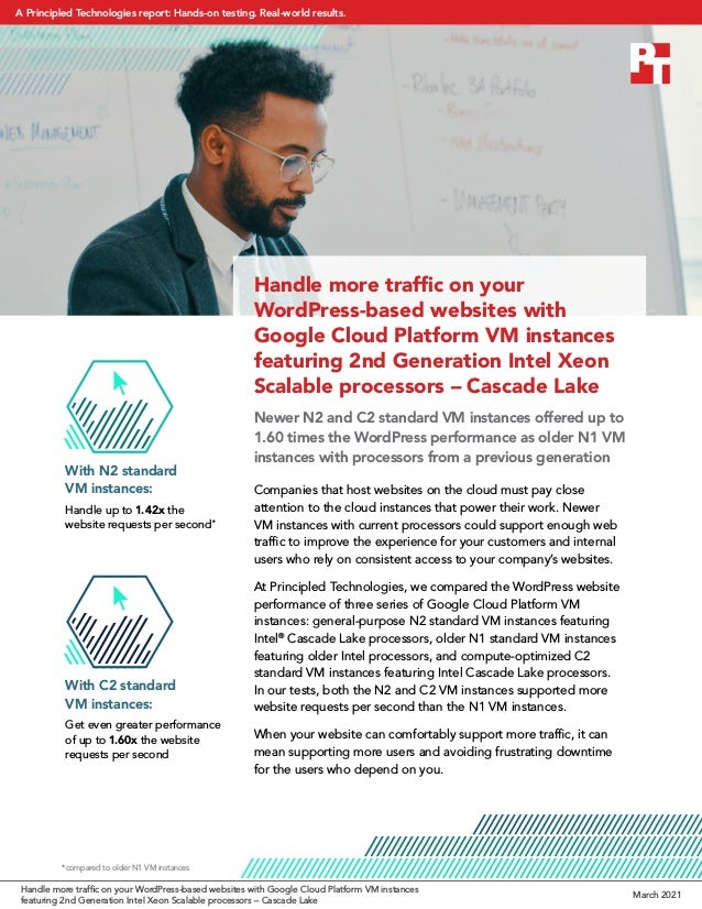 Handle more traffic on your WordPress-based websites with Google Cloud Platform VM instances featuring 2nd Generation Inte...