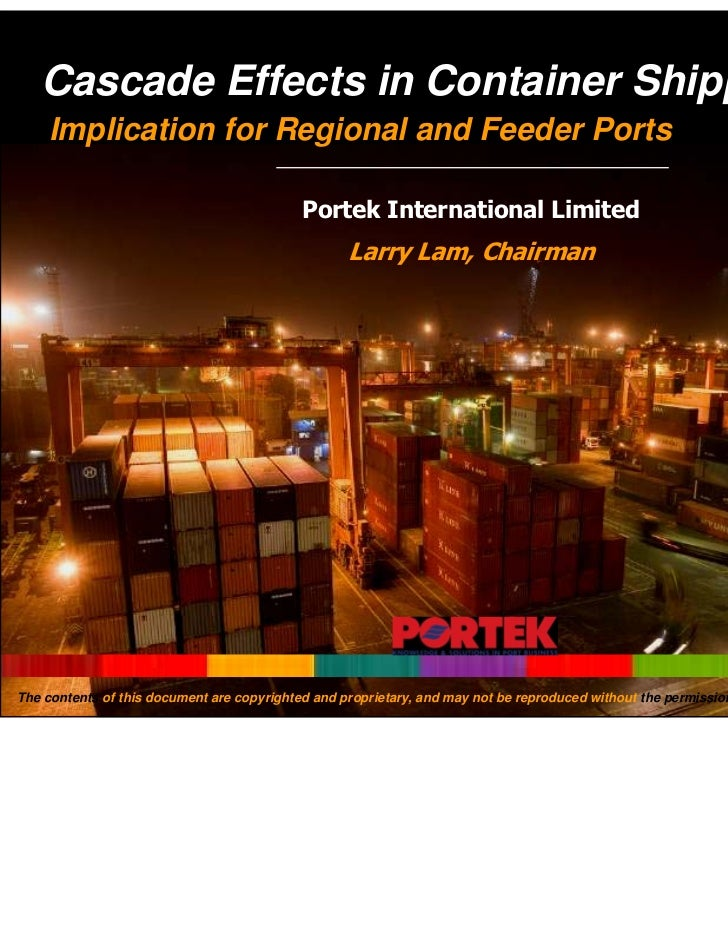 Cascade Effects in Container Shipping    Implication for Regional and Feeder Ports                                        ...