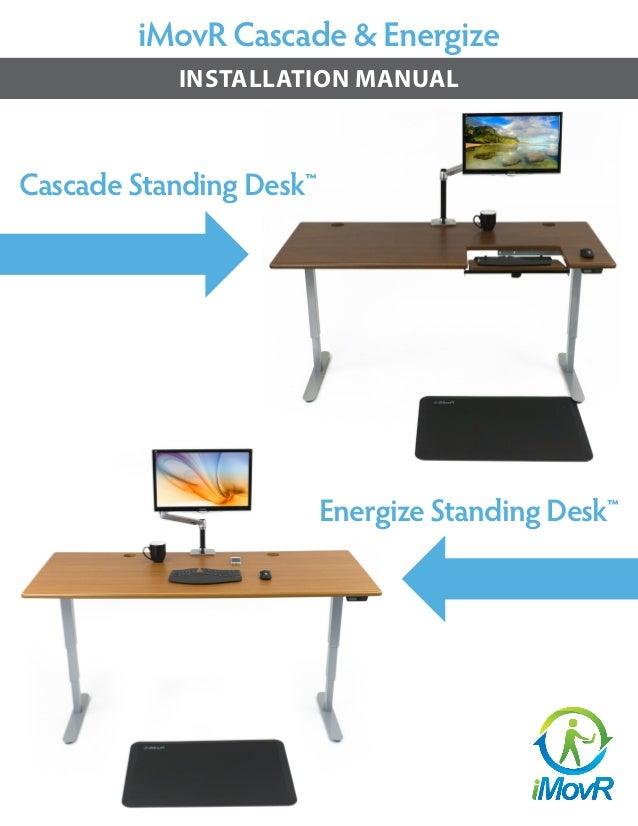 iMovR Cascade & Energize INSTALLATION MANUAL Cascade Standing Desk™ Energize Standing Desk™