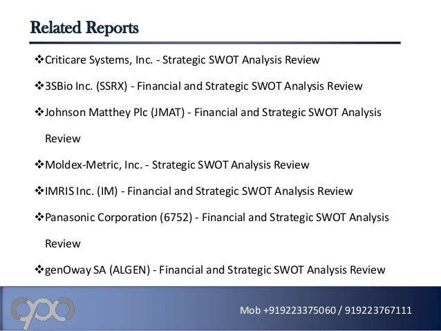 panasonic swot analysis Panasonic corporation - swot analysis company profile is the essential source for top-level company data and information panasonic corporation - swot analysi.