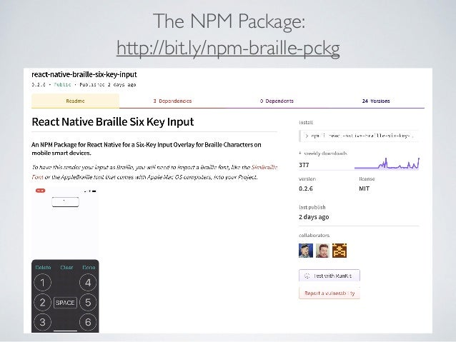 Npm key input