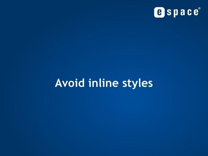 Avoid inline styles