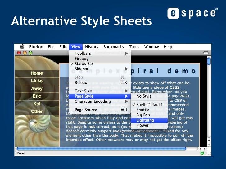 Alternative Style Sheets